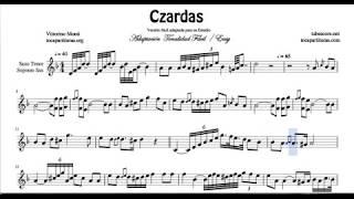 Czardas Video Sheet Music for Tenor and Soprano Sax Classical Music Score