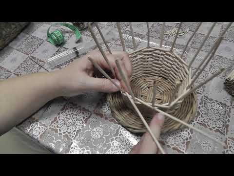"""Ситцевое плетение """"вдогонку"""" двумя трубочками"""