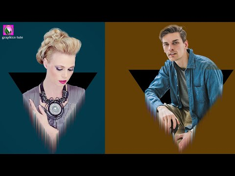 Photoshop Triangle 3d Pop Out Effect - Photoshop Tutorial - 3D Photo Effect In Photoshop