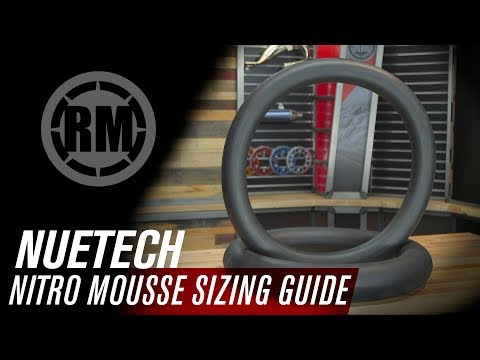 Nuetech Nitro Mousse Foam Motorcycle Tube Sizing Guide