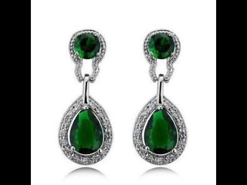 natural strim australia chrysoprase item plated earrings gold green lot with stone wt unique