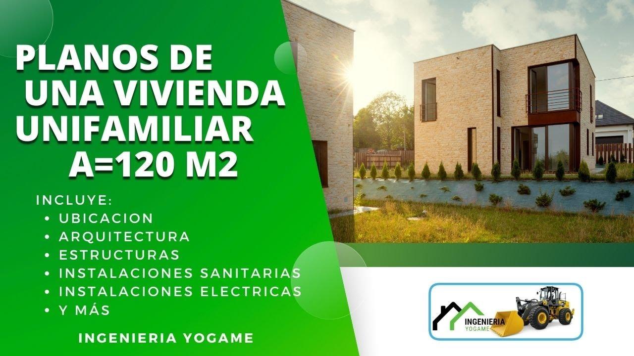 plano de casa en 6 x 20 metros en un rea de 120 m2