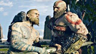 God of War 4 - Baldur Son of Odin Boss Fight (God of War 2018) PS4 Pro