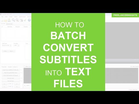 How to Batch Convert Subtitles into Text Files or Transcripts - YouTube