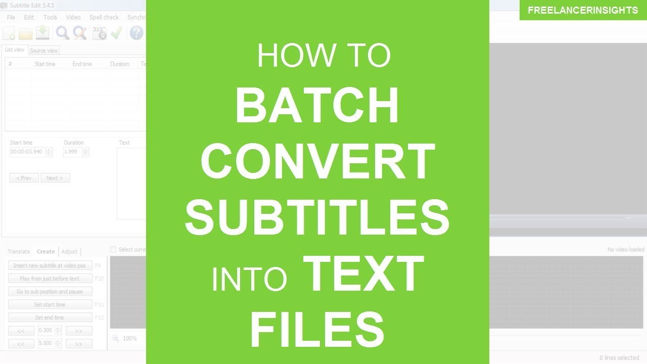 How to Batch Convert Subtitles into Text Files or Transcripts