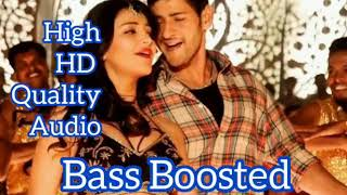 Bass Boosted / Aagadu / Junctionlo / Telugu song - ( use headphones 🎧)