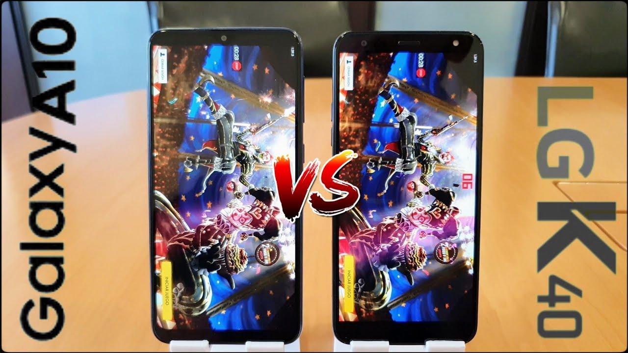 Comparamos Los Equipos Samsung A10 Y Lg K40 Youtube