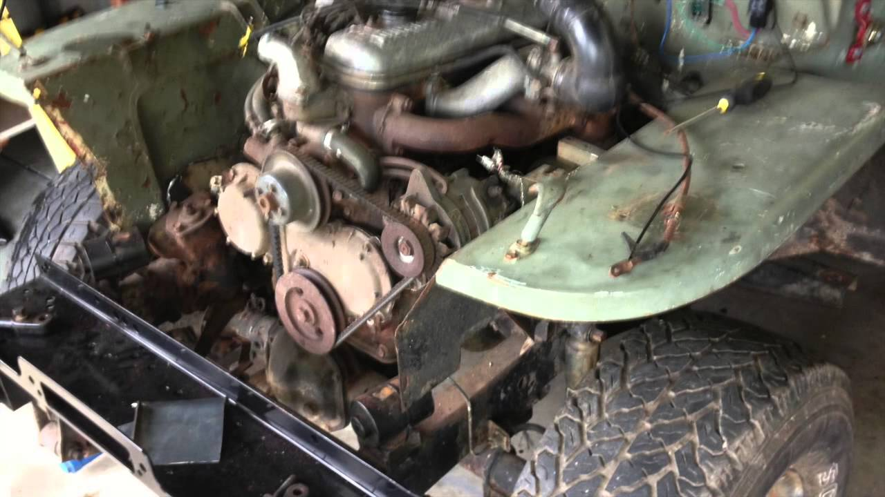 Jeep Willys 1944 >> Modified 1944 ww2 Willys Jeep, Ford GPW on a Diahatsu scat chassis - YouTube
