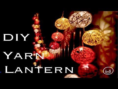 DIY most easiest way of Yarn / Wool Lanterns| Yarn balloon Ball Fairy Lights |Yarn Crafts
