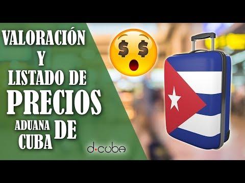 LISTA De PRECIOS Y Valoración 😱 Aduana De CUBA 2019 + Canal VERDE !!