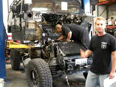hummer h1 duramax conversion body off youtube. Black Bedroom Furniture Sets. Home Design Ideas