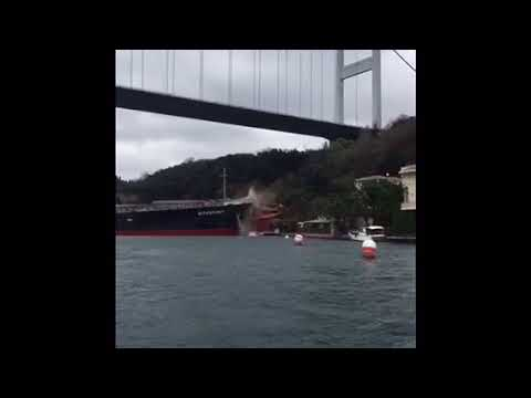 Greek bulk carrier crashes into Bosphorus mansion