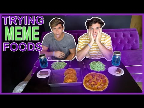 MAKING MEME FOOD/COOKING WITH THE DOLAN TWINS