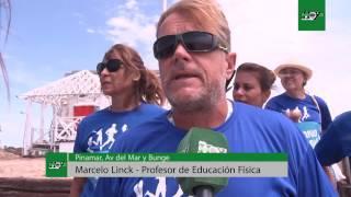Actividades saludables en las playas de Pinamar