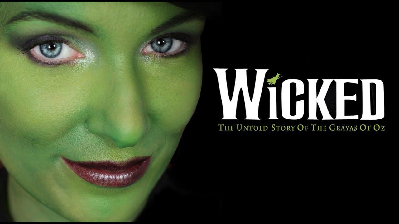 Elphaba thropp wicked halloween makeup tutorial youtube baditri Choice Image