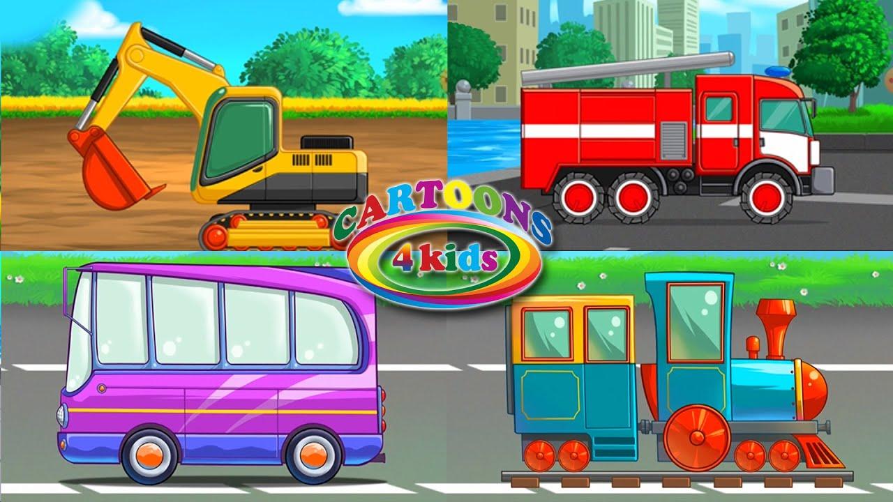 Изучаем транспорт и спецтехнику для детей | Мультики про машинки