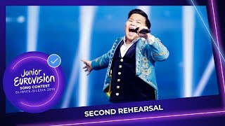 Kazakhstan 🇰🇿 - Yerzhan Maxim - Armanyńnan Qalma - Second Rehearsal - Junior Eurovision 2019