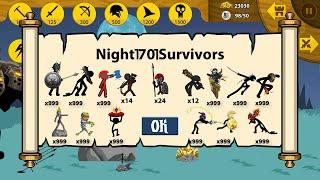Night 1701 Surviors Unlock Full x999 Army Items - Stick War Legacy screenshot 3