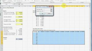How to make a two way (two variable) data table in Excel