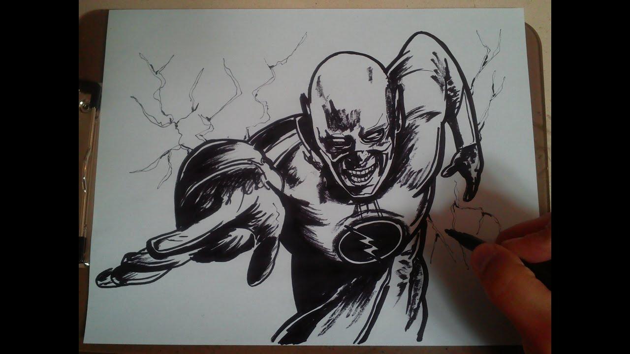 Como Dibujar A Flash Reverso How To Draw Reverse Flash