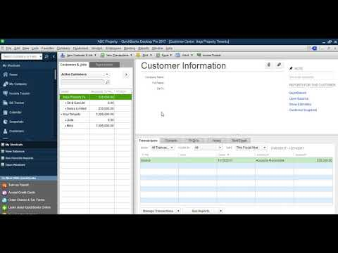QuickBook Software For Property Management Company - Training