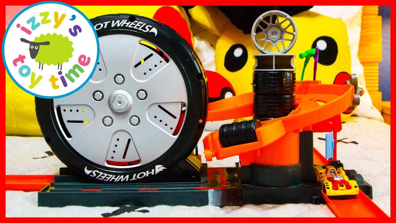 Cars For Kids Hot Wheels Super Spin Tire Shop Fun Toy