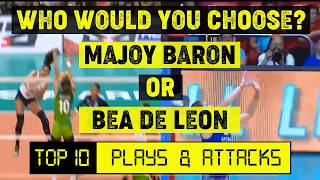 Majoy Baron vs Bea De Leon: Who's better between these two? | TOP 10 Plays & Attacks Comparison