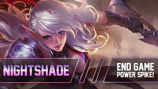 Heroes Evolved: END GAME POWER SPIKE!! Nightshade [Top] Gameplay
