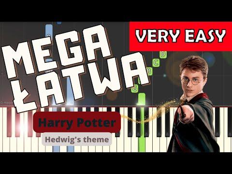 🎹 Harry Potter (motyw główny, Hedwig's theme) - Piano Tutorial (MEGA ŁATWA wersja) (VERY EASY) 🎹