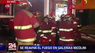 Incendio en Las Malvinas: fuego se reaviva en galería Nicolini