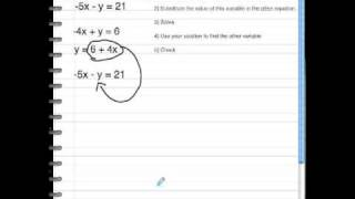 BDickson Solving Systems of Linear Equations Using Substitution b