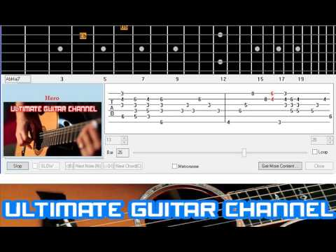 Guitar Solo Tab Hero Mariah Carey Youtube