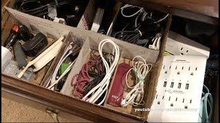 "Marie Kondo - KonMari Style | Cables & ""Junk Drawer"" Items"