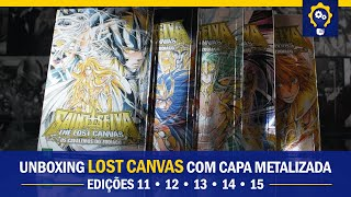 The Lost Canvas com capa metalizada - edições 11, 12, 13, 14 e 15 | Mangás JBC | Unboxing