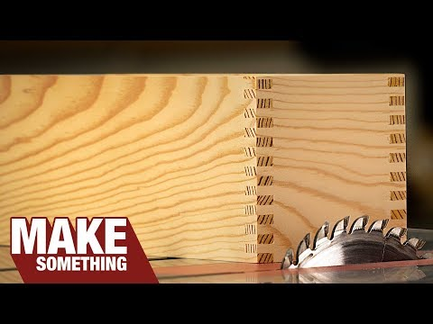 How to Make a Box Joint Jig. Quick Simple and No Dado Needed.