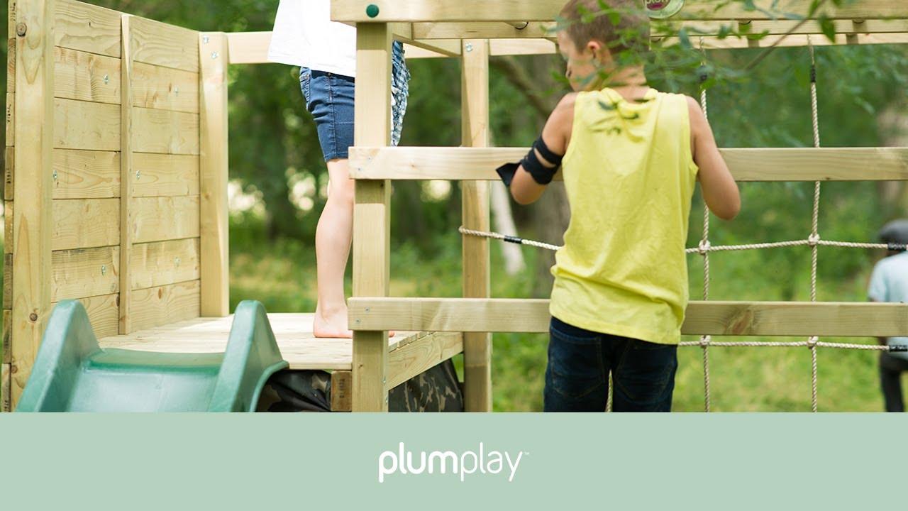 Plum Climbing Cube Wooden Play Centre - YouTube