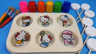 Learn Color for Toddlers Kids with Hello Kitty Magic Paint Color