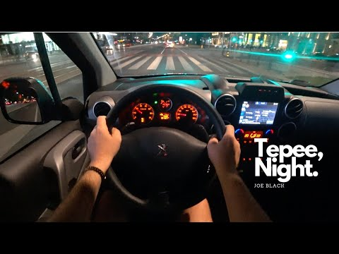 Peugeot Partner Tepee Night 1,6 BlueHDi 100 HP 4K | POV Test Drive #095 Joe Black