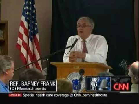 Barney Frank Confronts Woman At Townhall Comparing Obama To Hitler
