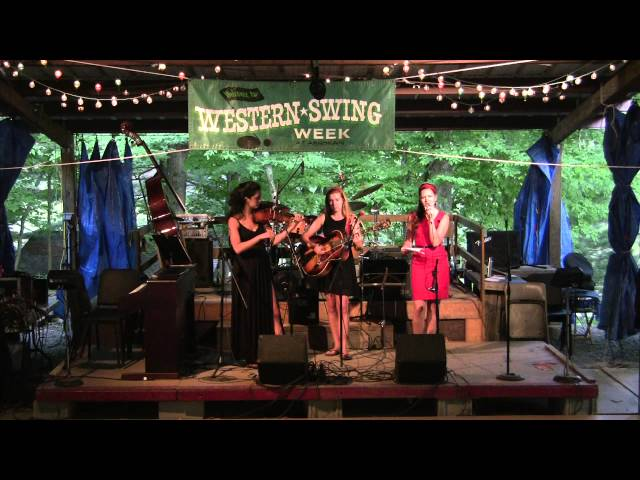 Katie, Lily, and Cerri   Ashokan Western & Swing Campers Night 2013