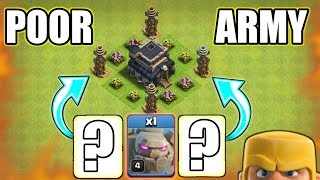 OHH NO😥POOR ARMY IN CLASH OF CLANS HISTORY | CAN WE GET 3 STAR