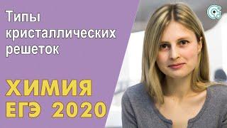 ЕГЭ ХИМИЯ 2020 | Типы кристаллических решеток