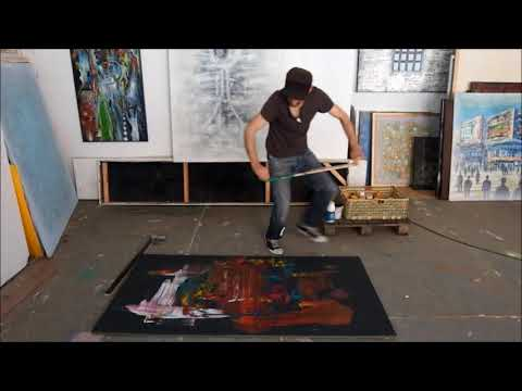 Abstract speed painting live