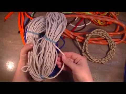 Шнуры для вязания ковров и пр. Промтекс. Видео отзыв. - YouTube