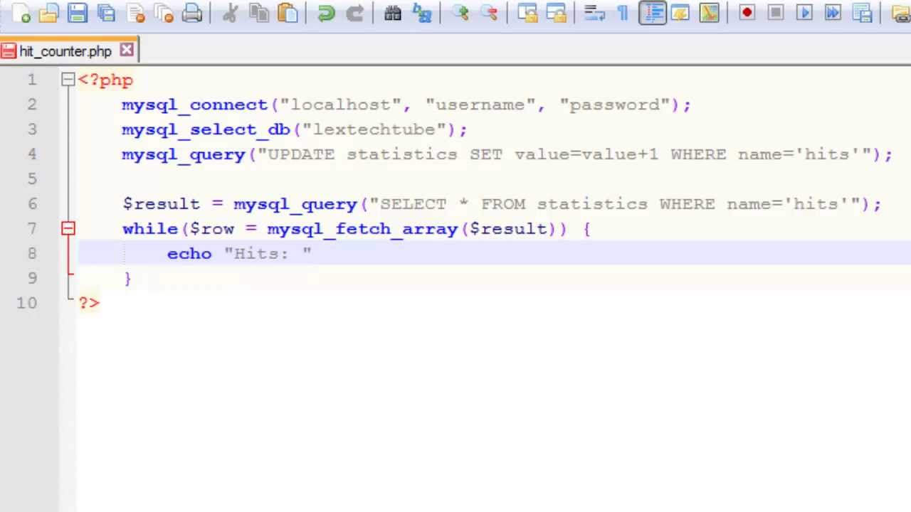 PHP Programming Simple Page HitView Counter Using MySQL