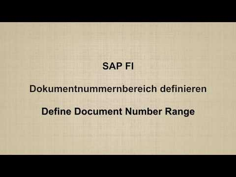SAP FI -  Define Document Number Range