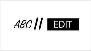 ABC//EDIT REEL