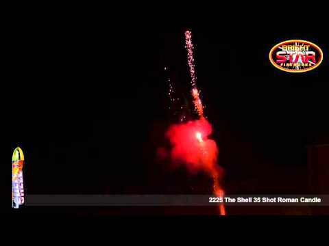 Bright Star Fireworks The Shell - 35 Shot Roman Candle