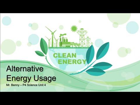 ALTERNATIVE ENERGY SOURCE : Sun, Wind, Water (Explanation Video) for P4 Classes - PK School