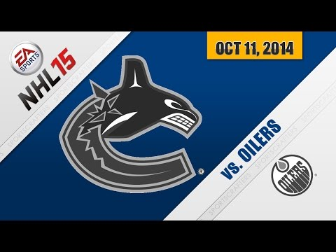 OILERS vs CANUCKS (Play NHL 15)